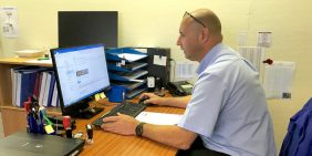 Order follow-up with new customer by Production Manager Andy Stone