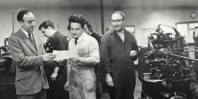 APT Leicester factory shop floor photo archive from 1955