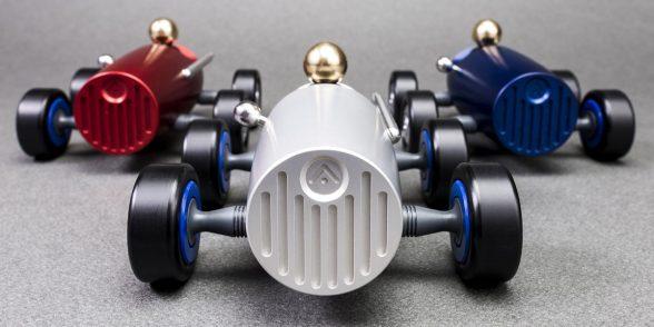 APT model racing car in aluminium and plastics