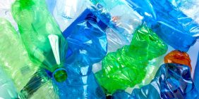 Caring for the environment and recycling plastic bottles