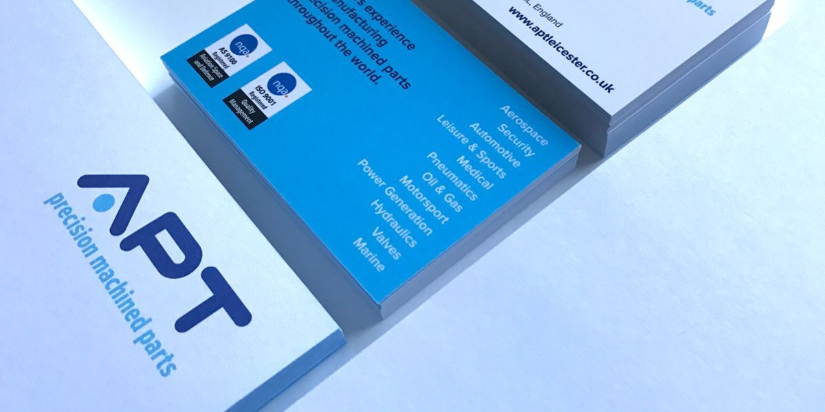 APT Leicester stationery designed and printed by Designeering