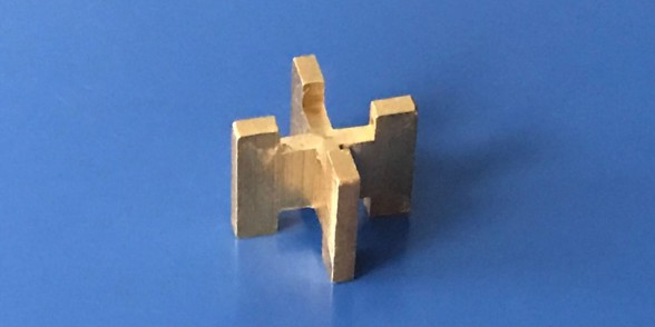 Cruciform Ball Stop - Brass | Aerospace