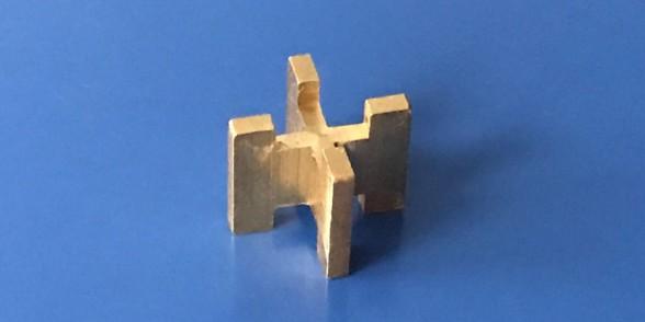 Cruciform Ball Stop - Brass | Aerospace