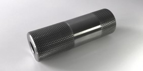 Mild steel turned part with knurl crossed pattern for leisure and sports industry