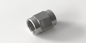 Stainless steel turned part fitting nut for Nuneaton Hose & Fitting racing lines