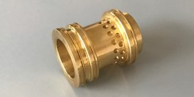 Brass restricter valve turned part for the Oil & Gas industry