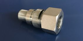 Oil & gas pipe connector turned part in stainless steel