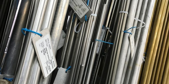 Stock bars in a variety of different materials including titanium