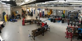 Team Derby motorsport car university headquarter