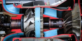Inside a turbojet engine as invented by Sir Frank Whittle