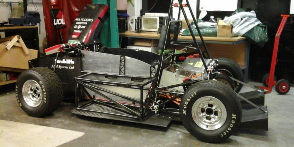 University of Leicester single seat electric racing car chassis