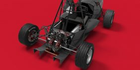 University of Leicester 2017 single seat electric racing car chassis
